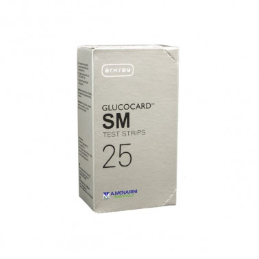 A.MENARINI DIAGNOSTICS - GLUCOCARD SM TEST 25 Strisce