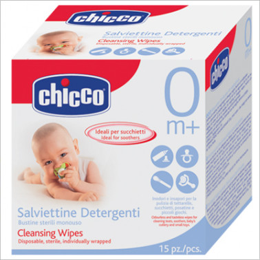 CHICCO (ARTSANA SpA) - CHICCO Salviettine Detergenti Monouso 15pz