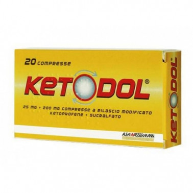 ALFA WASSERMANN SpA - KETODOL*20CPR 25MG+200MG RM