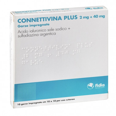 FIDIA FARMACEUTICI SpA - CONNETTIVINA PLUS*10GARZE10x10