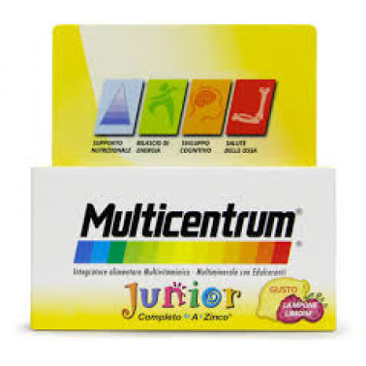 PFIZER ITALIA DIV.CONSUM.HEALT - MULTICENTRUM Junior Gusto Lampone Limone 30cpr
