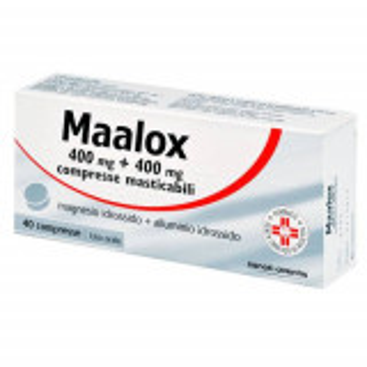 MAALOX*40CPR MAST 400MG+400MG